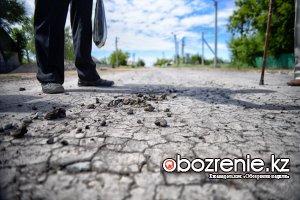 Дорогу в Ленинском отказываются принимать акимат и жители