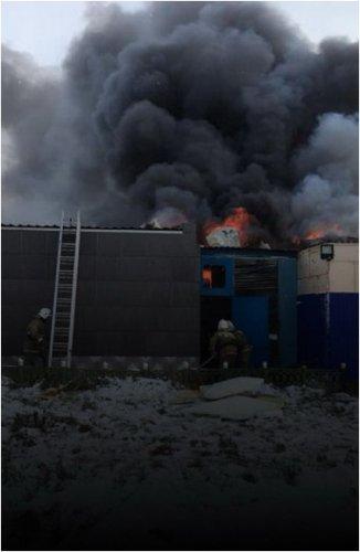 В Успенском районе сгорело предприятие по изготовлению сыра