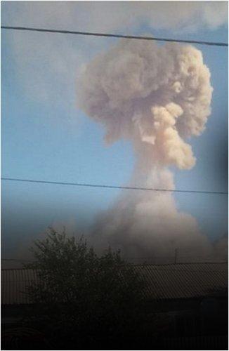 Разрывающиеся снаряды в Арыси. Двое погибших, десятки раненых