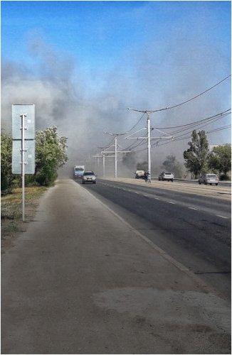 Склад лакокрасочных изделий загорелся в Павлодаре