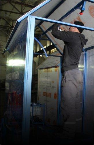 Дезинфекционные тоннели изготавливают заключенные Павлодара