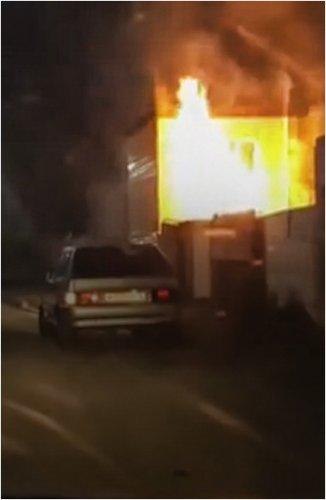 Банный комплекс горел в Павлодаре
