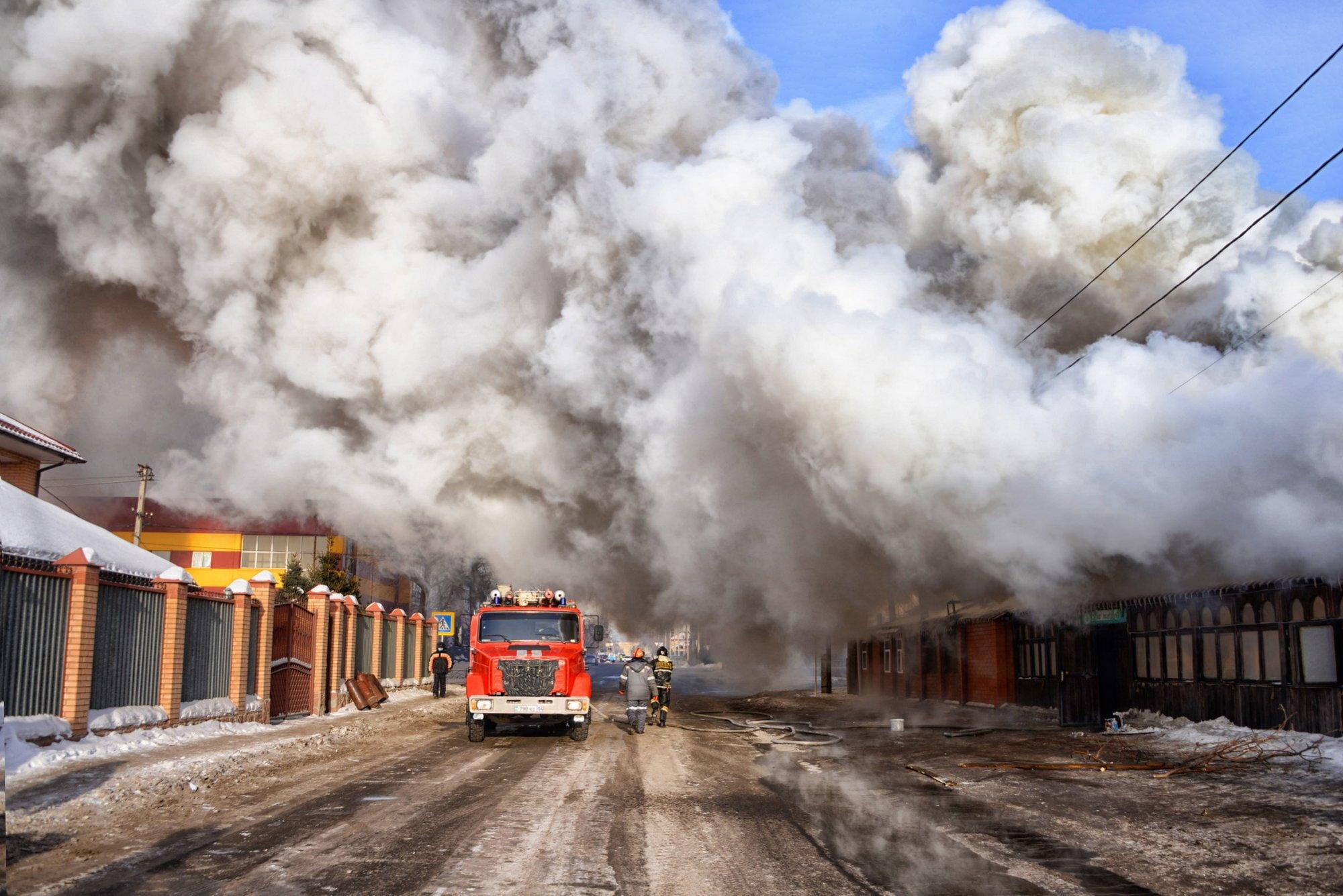 Крупный пожар в центре города произошел в Павлодаре