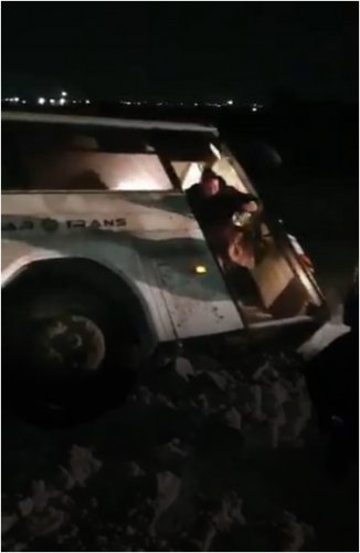 Автобус с 30 пассажирами вылетел в кювет в Павлодарской области