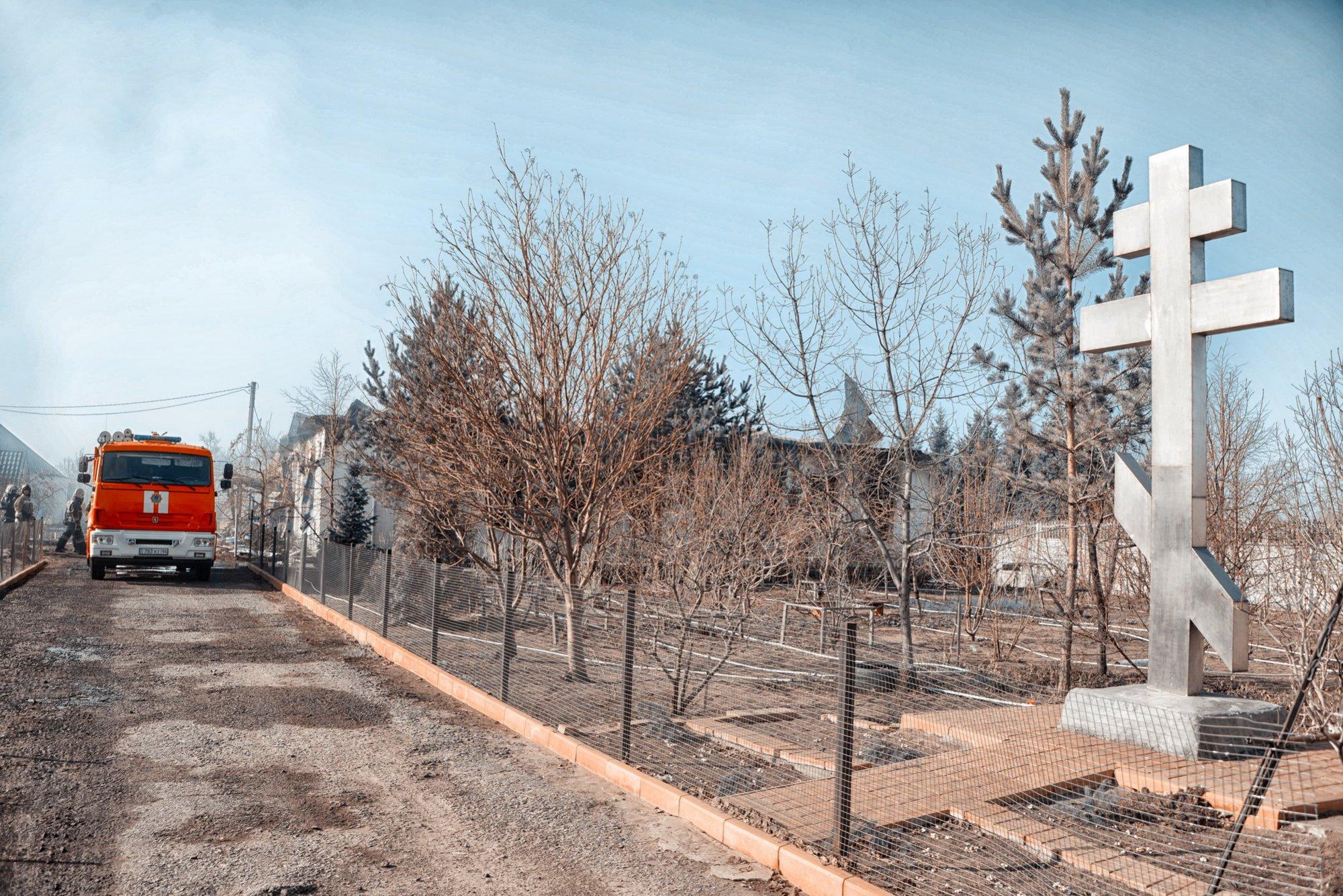 Монастырь, сгоревший в Павлодарском, вероятно, придется сносить